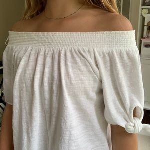 Gorgeous white off the shoulder blouse